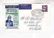NZ 1970 50th,anniv of first crossing cook strait      k1116