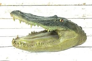 14 inch Giant Floating Gator Head Decoy Alligator Crocodile Pool Garden Decor