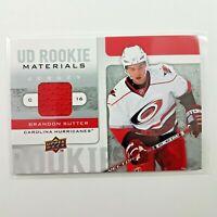 2008-09 Brandon Sutter Rookie Materials Jersey Upper Deck UD Hockey Card RM-BS