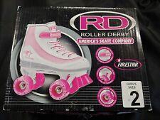 Roller Derby Youth Girls Firestar Roller Skate White/Pink  Size 2