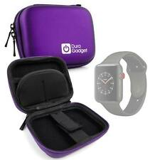 Purple Hard EVA Case with Carabiner Clip For Use W/ Apple Watch Series 3