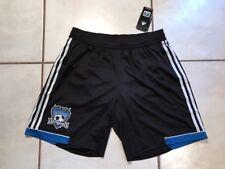 NWT ADIDAS San Jose Earthquakes 2012 MLS BLACK   Shorts Men's Large