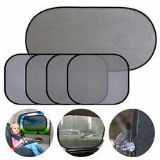 5pcs Universal Pinstripe Mesh Auto Car SUV Window Sunshade Sun Visor Cover Black