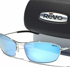 NEW* Revo THIN SHOT Chrome Silver w Blue POLARIZED Lens Sunglass 3090-03 $200