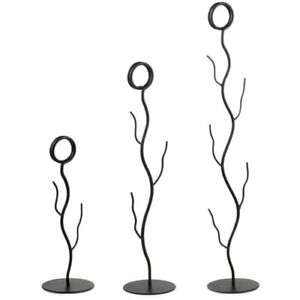 """Number Stand, Black-Powder-Coated Metal, Branch Style Size 8"""""""