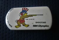 1984 LOS ANGELES Olympics SHOOTING WITH GAMES MASCOTTE Pin Badge