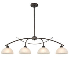 4-Light Kitchen Light Alabaster Glass Pendant Light Pool Ceiling Hanging Light