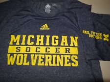 Adidas Michigan Wolverines Soccer T Shirt Authentic Team Issue Climalite Men's L