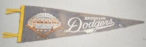 Brooklyn Dodgers Ebbets Field Vintage Felt Banner Pennant 24 Inches BC2856
