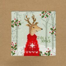 Bothy Threads ~ Counted Cross Stitch Kit ~ Christmas Card ~ Xmas Deer ~ XMAS12
