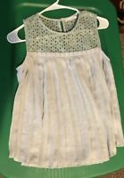 Maurices Green Eyelet Pleated Swing Sleeveless Blouse NWT - Extra Small XS