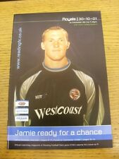 30/10/2001 Reading v Colchester United [LDV Vans Trophy] . Thanks for viewing ou