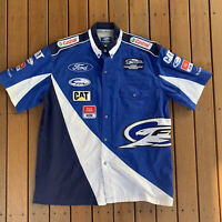 Ford Performance Racing Blue Shirt Castrol CAT Advertising Size L