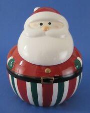 Gibson Santas Delight Christmas Cookie Jar Holiday Collection