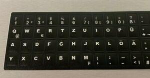 Deutsche Tastatur-Aufkleber (universal) für Laptop Schwarz Matt, 48 Tasten
