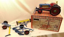 1950's Marx Tractor Sales & Service Farm Machinery w/ Attachments & Original Box