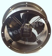 Duct Fan 400mm 1 phase 4 pole Cased Axial Kitchen Extraction Ducting