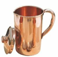 Pure Copper Smooth Water Jug/Copper Pitcher for Ayurveda Health Benefit Freeship