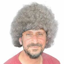 Silver Curly Afro Wig Fancy Dress Party Costume Accessory Disco Clown 70s