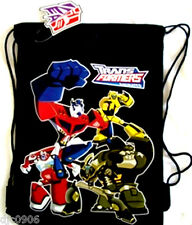 DISNEY TRANSFORMERS ANIMATED BLACK DRAWSTRING BAG BACKPACK TRAVEL STRING TOTE