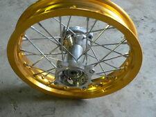 "12"" Inch Rear Rim 1.85 Gold Alloy Aluminium Motorbike Pit Bike Thumpster Chinese"