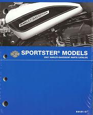 2007 HARLEY-DAVIDSON SPORTSTER PARTS CATALOG MANUAL -NEW-XL 883-1200-XL50