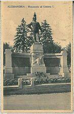 CARTOLINA d'Epoca - ALESSANDRIA Città - MONUMENTO UMBERTO I