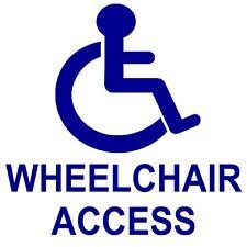 1 x Wheelchair Access Disabled Sticker-87mm-Wheel Chair Disability External Sign