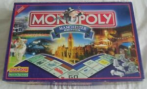 Vintage 2001 Manchester Edition Monopoly 100% Complete
