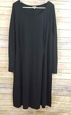 Women's J JILL Stretch Black Long Sleeve Rayon Nylon Knit Dress Size XL