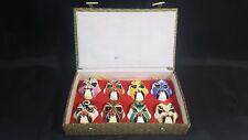 8  Boxed Hand Painted ClayChinese PekingOpera Mask Zhang Decoration