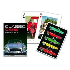 Gibsons Classic Cars Unique Singles Piatnik Playing Cards Green