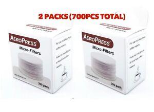 GENUINE AEROPRESS Replacement Paper Filters 2PK (700) Coffee Espresso Maker Brew