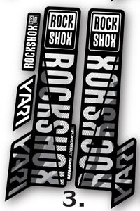 Rock Shox Yari custom camo decals