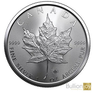 2020 1 oz Canadian Maple Leaf Silver coin New in protective Capsule