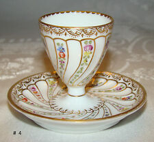 Antique Helena Wolfsohn Dresden GERMANY Egg Cup with Attached Liner c 1890's # 4