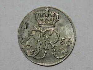 GERMANY 1756 1/24 THALER PRUSSIA GERMAN STATES WORLD COIN 🌈⭐🌈