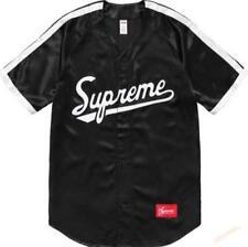 Supreme SS17 Satin Baseball Jersey Justin Bieber Dj Khaled black S-XL