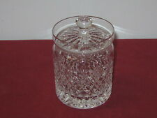 ROYAL BRIERLEY CRYSTAL  --  STIRLING  --   HONEY-JAM-JELLY JAR WITH LID