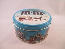 M&M round Tin ~ Winter Scenes  ~ Mars inc.