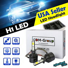 2 x H1 COB White LED Headlight Replacement 6000K 6K 160000LM Bulbs for Low Beam