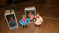 VTG Kurt Adler Santas World PAPER FABRIC MACHE Victorian CHILDREN Ornament LOT