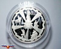 Russia 25 rubles 2015 70th Anniversary of WWII Victory Silver 5 oz PROOF