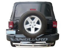 """VANGUARD 48"""" CHROME DOUBLE LAYER REAR BUMPER PROTECTOR HITCH STEP S/S"""