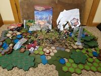 Heroscape large lot of terrain tiles figures dragons dice cards and more