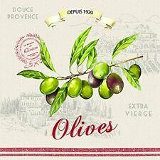 EasyLife 3ply Olive Design Paper Naplins (Pack of 20)
