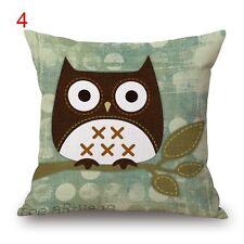 BN lovely owl cushion cover #4 LINEN COTTON