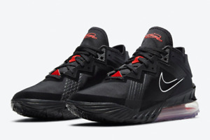 Nike LeBron 18 Low Black Red Men's Basketball Shoes Sport Sneakers CV7562-001