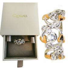 Clogau Size N Silver Welsh 9ct Rose Gold Tree of Life Origin Ring