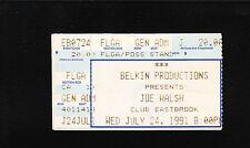 Original Vintage Joe Walsh TicketStub Jul 24 1991 Club Eastbrook Grand Rapids Mi